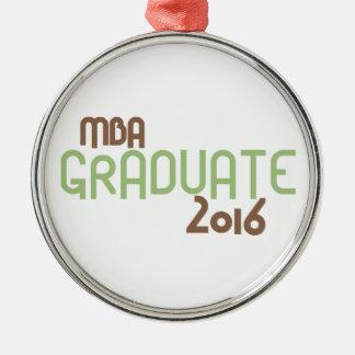 ファンキーなMBAの卒業生2016年(緑) メタルオーナメント