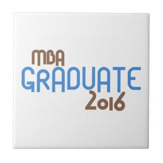 ファンキーなMBAの卒業生2016年(青) タイル