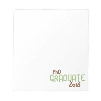 ファンキーなPhDの卒業生2016年(緑) ノートパッド