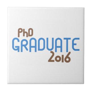 ファンキーなPhDの卒業生2016年(青) タイル