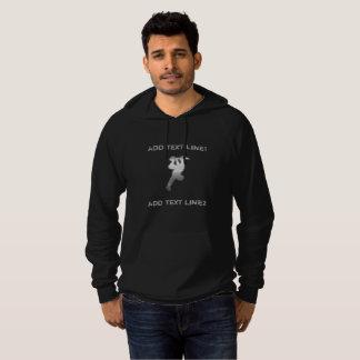 ファンキー文字の搭乗のスケート選手のセーターを加えて下さい パーカ