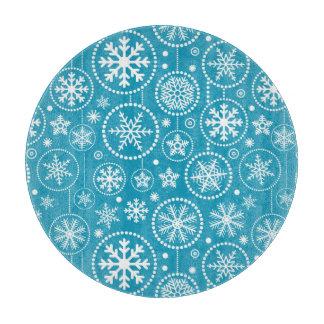 ファンシーで青い雪片のシャワー カッティングボード