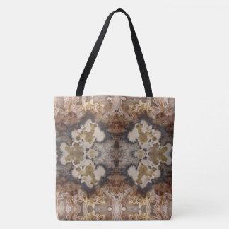 ファンシーで鮮やかで熱狂するなレースの瑪瑙の自然な石のデザイン トートバッグ