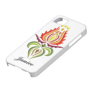 ファンシーなふたの刺繍-ハンガリーの民芸 iPhone SE/5/5s ケース