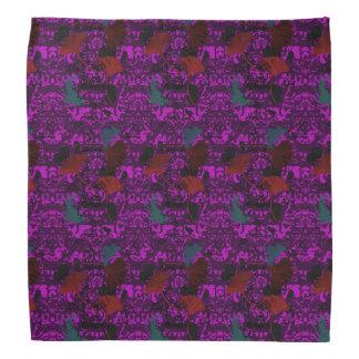 ファンシーなイチョウのグランジなバンダナの紫色 バンダナ