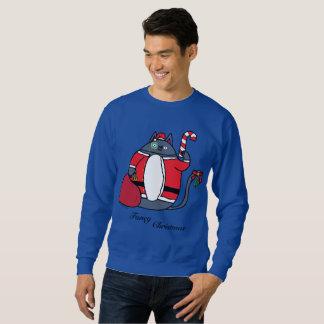 ファンシーなクリスマスの人のセーター スウェットシャツ