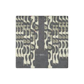 ファンシーなチータの迷彩柄 ストーンマグネット