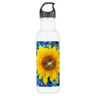 ファンシーなヒマワリの装飾的な芸術 ウォーターボトル