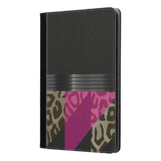 ファンシーなピンクの黒いチータ iPad AIRケース