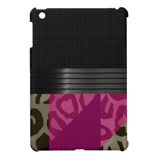 ファンシーなピンクの黒いチータ iPad MINIカバー