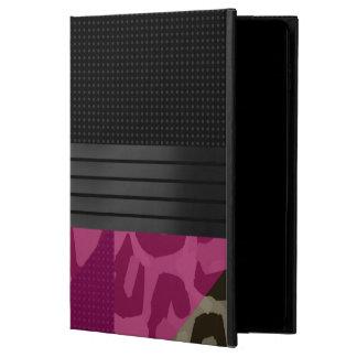 ファンシーなピンクの黒いチータ POWIS iPad AIR 2 ケース