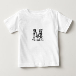 ファンシーなモノグラム: マッケンジー ベビーTシャツ