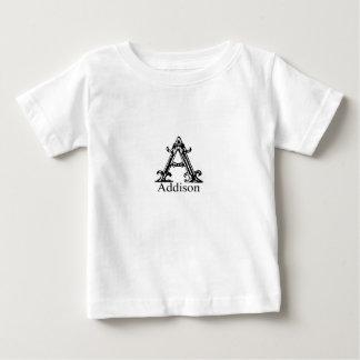 ファンシーなモノグラム: Addison ベビーTシャツ