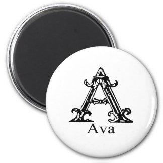 ファンシーなモノグラム: Ava マグネット
