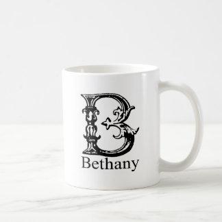 ファンシーなモノグラム: Bethany コーヒーマグカップ