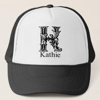 ファンシーなモノグラム: Kathie キャップ
