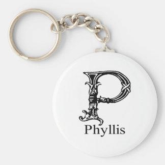 ファンシーなモノグラム: Phyllis キーホルダー