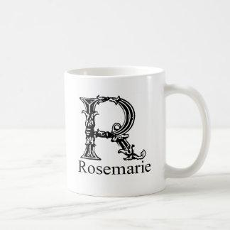 ファンシーなモノグラム: Rosemarie コーヒーマグカップ