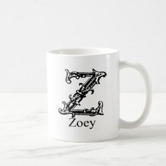 ファンシーなモノグラム: Zoey コーヒーマグカップ