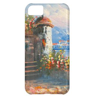 ファンシーなヨーロッパの別荘の絵画 iPhone5Cケース