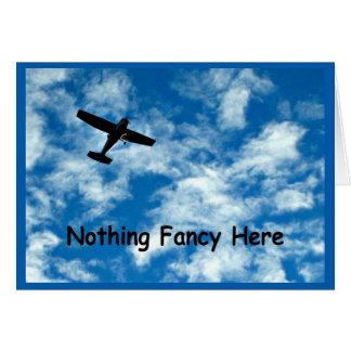 ファンシーな何もちょうど飛行機感謝していしていません カード