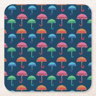 ファンシーな傘 スクエアペーパーコースター