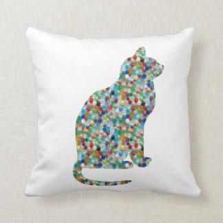 ファンシーな宝石の装飾用クッション猫動物 クッション