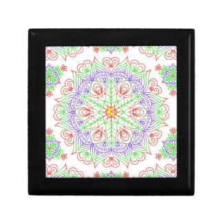 ファンシーな曼荼羅の抽象芸術の花模様 ギフトボックス