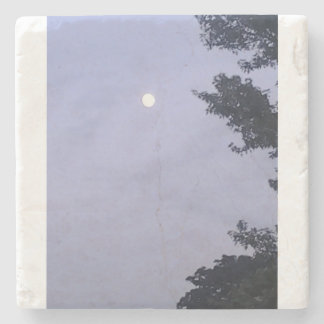 ファンシーな淡いブルーの月の空の石のコースター ストーンコースター