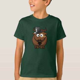 ファンシーな漫画Bull -子供のTシャツ Tシャツ