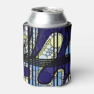 ファンシーな濃紺の抽象芸術 缶クーラー