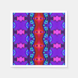 ファンシーな紫色の赤いフラクタル スタンダードカクテルナプキン