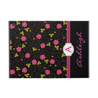 ファンシーな花柄の渦巻のモノグラムのフォリオ iPad MINI ケース