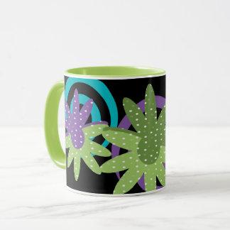 ファンシーな花 マグカップ