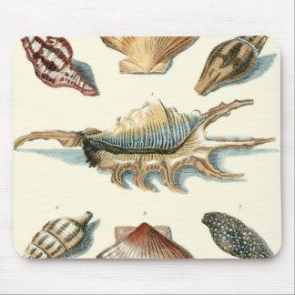 ファンシーな貝のビーチ マウスパッド