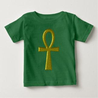 ファンシーな金ゴールドのAnkhのベビーの衣服 ベビーTシャツ