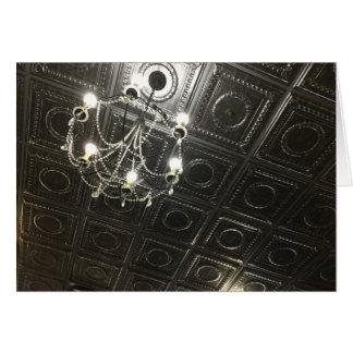 ファンシーな錫の天井のブランクのノート カード
