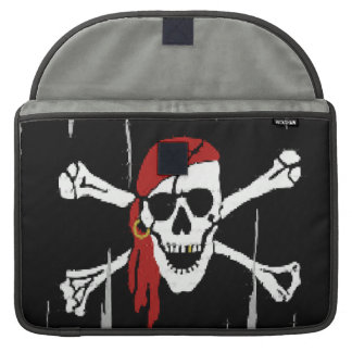 ファンタジーのおもしろいの海賊スカルのMacbookのプロラップトップスリーブ MacBook Proスリーブ