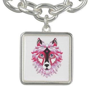 ファンタジーのオオカミ動物 チャームブレスレット