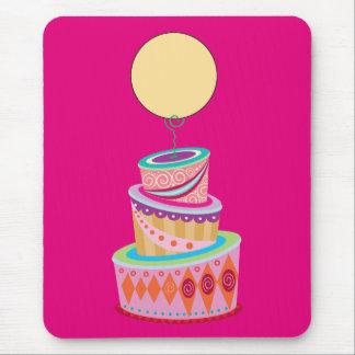 ファンタジーのケーキのテンプレート マウスパッド