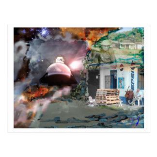 ファンタジーのコラージュpostcard|のTシャツ、マグのデジタル芸術 ポストカード