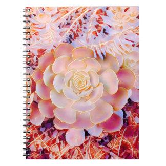 ファンタジーのサケは自然なロゼットのノートを選びます ノートブック