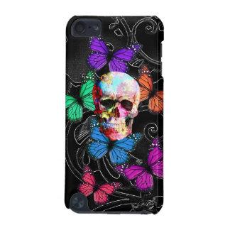 ファンタジーのスカルおよび着色された蝶 iPod TOUCH 5G ケース