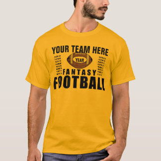 ファンタジーのチームはカスタマイズTシャツに-挑みます Tシャツ