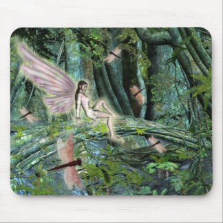 ファンタジーのトンボの妖精のmousepad マウスパッド