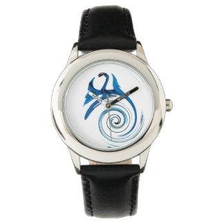 ファンタジーのドラゴンの芸術 腕時計