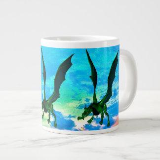 ファンタジーのドラゴン ジャンボコーヒーマグカップ