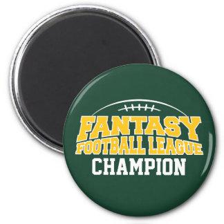 ファンタジーのフットボールのチャンピオンの-緑およびイエロー・ゴールド マグネット