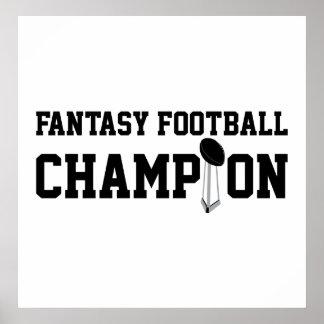 ファンタジーのフットボールのチャンピオン ポスター