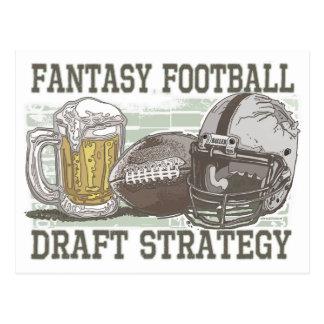 ファンタジーのフットボールの草案の作戦 ポストカード